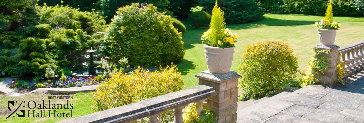 oaklands hall hotel terrace and garden