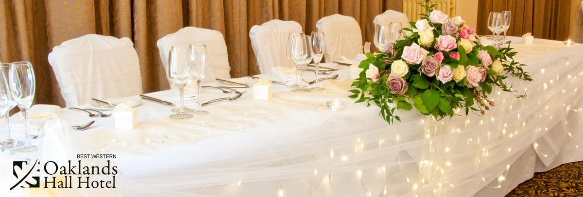 churchill suite wedding top table